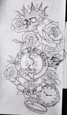 Unique design by my lover, Frankie Gillespie, no shade --- copyright 2015 Card Tattoo Designs, Skull Tattoo Design, Tattoo Design Drawings, Tattoo Sleeve Designs, Skull Tattoos, Dog Tattoos, Animal Tattoos, Tattoo Sketches, Body Art Tattoos