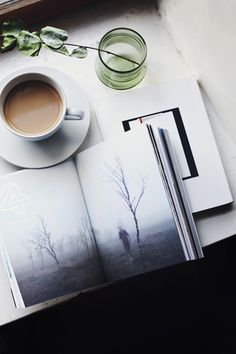 Coffee + a good book= the best combination.