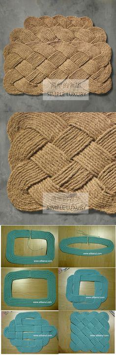 Creative Ideas, Creative Projects Magic Hands, Small Hands … - Diy and Crafts Rope Crafts, Diy And Crafts, Arts And Crafts, Fall Crafts, Diy Projects To Try, Crochet Projects, Craft Projects, Tapetes Diy, Diy Décoration