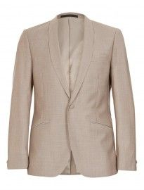 Topman Sand Skinny Suit Jacket