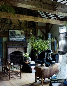 Rustic elegance. Texture, mystery, comfort... can I get you a drink, Friend?