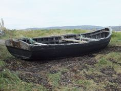 Wooden Curach: Traditional Irish Boat