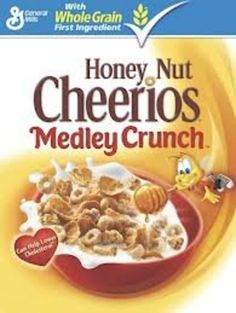 General Mills, Honey Nut Cheerios, Medley Crunch Cereal, 13.1oz Box (Pack of 2)