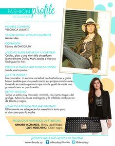 #FashionProfile de Noviembre 2013: Conocé más sobre Verónica Lasarte, editora de DMODA.UY.
