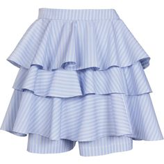 COMME DES GARÇONS SHIRT Skirt ($210) ❤ liked on Polyvore featuring skirts, saias, bottoms, gonne, women, flounce skirt, summer skirts, blue skirt, blue cotton skirt and striped skirt