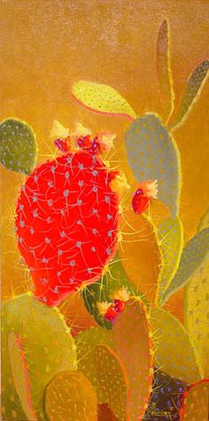 Cactus Paintings by Sharon Weiser - Turquoise Tortoise Art Gallery Cactus Drawing, Cactus Painting, Cactus Art, Illustration Cactus, Southwestern Art, Southwest Quilts, Cactus Planta, Desert Art, Arte Popular
