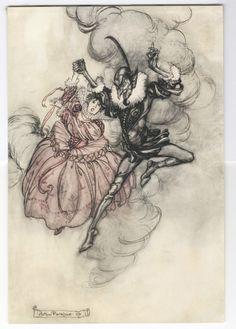 Arthur Rackham 'A Grand Pas de Deux' illustration, 1907 | eBay