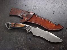Slay Zombies in style. Custom Recurve Knife 119.