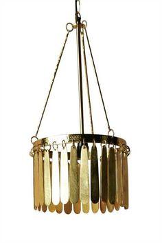Cast Aluminum Pendant Lamp, Gold Finish