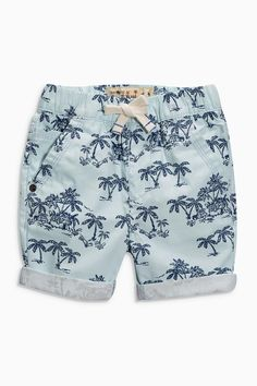 Buy Blue Palm Print Shorts Two Pack (3mths-6yrs) from the Next UK online shop