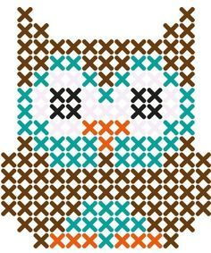 cross stitch card owl small - Google Search