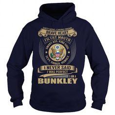 Cool BUNKLEY Last Name, Surname Tshirt T shirts