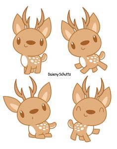 Cute Chital by Daieny.deviantart.com on @DeviantArt