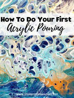 Pour Painting Techniques, Acrylic Pouring Techniques, Acrylic Painting For Beginners, Acrylic Pouring Art, Acrylic Art, Acrylic Painting Canvas, Acrilic Paintings, Acrylic Tutorials, Flow Painting