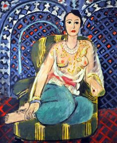 Matisse - Seated Odalisque (1927) I love his use of colour and his varied depiction of women