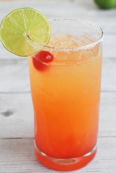 Tequila Sunrise Margarita - the prettiest margarita you'll ever make!