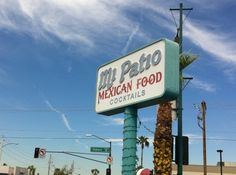 Mi Patio in Phoenix. A pretty good little spot for Mexican food at a reasonable rate. Shredded Beef Enchiladas, Best Mexican Recipes, Downtown Phoenix, Pretty Good, Restaurants, Cocktails, Patio, Places, Green