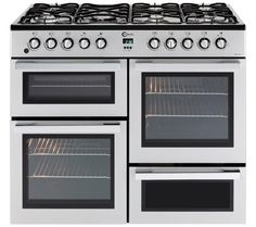 Buy FLAVEL MLN10FRS Dual Fuel Range Cooker - Silver & Chrome   Free Delivery   Currys Cheapest Currys oven 499.99 (sale price)