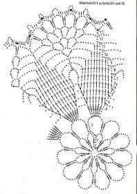 Kira scheme crochet: Scheme crochet no. Crochet Doily Diagram, Crochet Mandala, Crochet Chart, Crochet Squares, Thread Crochet, Filet Crochet, Crochet Motif, Crochet Round, Doily Patterns