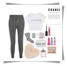 """""""Morning☀️✨😌"""" by doriaben on Polyvore featuring WithChic, Burberry, Falke, Nordstrom, D.L. & Co., Lipsy, Maybelline, Crabtree & Evelyn et Christian Dior"""