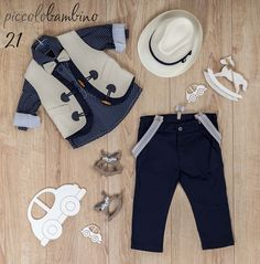 PB21_2037_EKROU_MPLE Little Boy Fashion, Kids Fashion, Trendy Outfits, Boy Outfits, Toddler Vest, Baby Boutique Clothing, Boys Suits, Boys Wear, Cute Baby Clothes