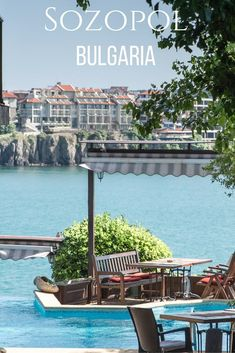 Sozopol Bulgaria. A beautiful, ancient fishing village perched on a narrow peninsula above the glistening Black Sea.