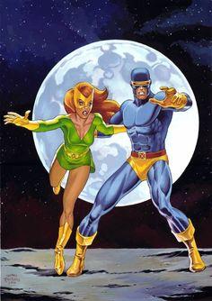 Marvel Girl & Cyclops by Thomas Frisano
