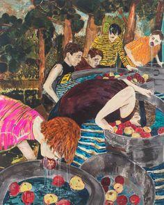 Hernan Bas à la Galerie Perrotin, entre éphèbes rêveurs et fleurs dévoilées   Numéro Magazine