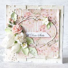 UHK Gallery - Inspirations: Miscellaneous Shabby Chic Paper, Shabby Chic Cards, Wedding Cards Handmade, Greeting Cards Handmade, Scrapbooking, Card Maker, Card Tags, Creative Cards, Flower Cards