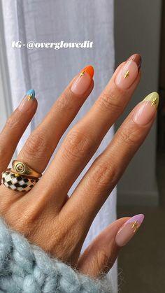 Chic Nail Art, Chic Nails, Nail Art Kits & Accessories, Peach Nail Art, Mix Match Nails, Mens Nails, Light Blue Nails, Nail Art Pictures, Girls Nails