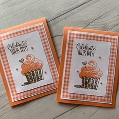 card cake cupcake, cupcakes, muffin, muffins, SU Hello Cupcake Stampin Up Kids Birthday Cards, Funny Birthday Cards, Handmade Birthday Cards, Greeting Cards Handmade, Birthday Wishes, Birthday Quotes, Card Birthday, Handmade Greetings, Cupcakes