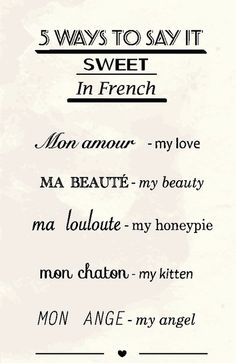 .I have to admit French is so easy on the ear..particularly when comparing it to the Australian strine.. (guilty as charged)