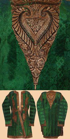 Antique Indian Silk Velvet Jacket  Mughal Dynasty 1526 - 1857 A.D