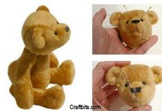 Crochet Stuff Bears Patterns 20 Free Patterns to Sew Your Own Teddy Bears: Baby Pip Teddy Bear - Sew something special and huggable with one of these extra cute, free teddy bear sewing patterns! Sewing Toys, Baby Sewing, Sewing Crafts, Sewing Projects, Sewing Ideas, Diy Crafts, Sewing Stuffed Animals, Stuffed Animal Patterns, Baby Teddy Bear