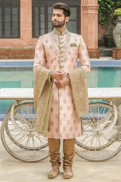 Traditional Indian jodhpuri sherwani collection online for wedding, sangeet and festive occasions. choose from latest designer shervani designs to buy sherwani online. Sherwani For Men Wedding, Wedding Dresses Men Indian, Sherwani Groom, Punjabi Wedding, Mens Wedding Wear Indian, Indian Weddings, Saree Wedding, Wedding Men, Wedding Suits