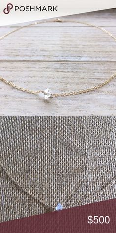 """✨Herkimer Diamond Choker Necklace✨ ✨Herkimer Diamond Choker Necklace✨   Dainty and delicate choker necklace. Wear alone or great for layering.   High Quality Double Terminated Crystal Quartz Herkimer Diamond. 15"""" Gold Filled or Sterling Silver Chain   Brilliant sparkle and clarity. Manifest pure, solid light. Powerful amplifier of spiritual energy. Feel the energy!   ✨Minimalist Simple Basic Classic Style April Birthstone Bridesmaid Wedding✨ Jewelry Necklaces"""