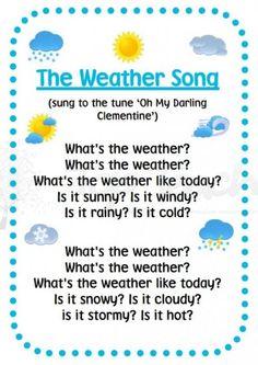 Calendar math: weather song