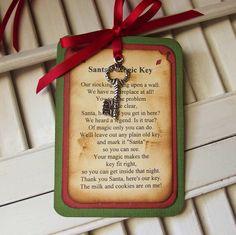 Santa's Magic Key Poem Tag