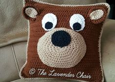 Crochet Teddy Bear Pillow [FREE Pattern]