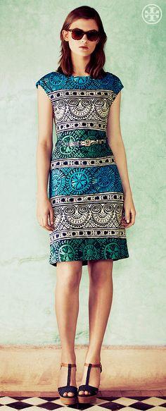 Silk Knit: The Effortless Dress   Tory Burch Summer 2013