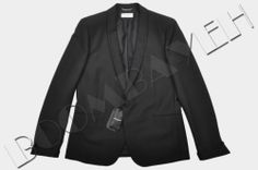 SAINT LAURENT PARIS RP:2199$ AUTHENTIC BLACK SINGLE-BREASTED SHAWL COLLAR JACKET