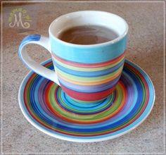 Odrobina kawy i refleksji...  #smakkawy #fairtrade Teak, Tableware, Dinnerware, Dishes