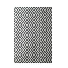 e by design Geometric Dark Gray Indoor/Outdoor Area Rug Rug Size: