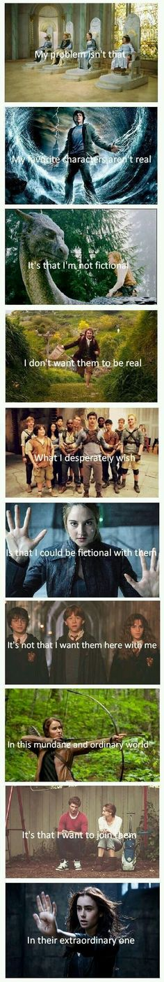Narnia/Percy Jackson/Water Horse/Hobbit/Maze Runner/Divergent/Harry Potter/Hunger Games/Tfios/The Mortal Instruments I Love Books, Good Books, Books To Read, My Books, Film X, Film Serie, Book Memes, Book Quotes, Heart Quotes