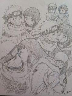 Naruto e Hinata (NaruHina) Anime Naruto, Naruto Und Hinata, Art Naruto, Naruto Comic, Naruto Cute, Naruto Shippuden Anime, Hinata Hyuga, Naruto Drawings, Naruto Sketch