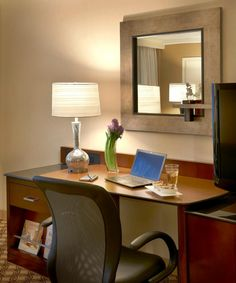 For business travelers, this is The Room That Works® - specifically designed to enhance your productivity. All the technology you need is here, including a connectivity panel for all your electronic devices. All of our rooms are designed with business travelers in mind and include a desk with an ergonomic work chair and wired or wireless high-speed Internet.