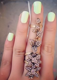 Floral Knuckle Ring <3