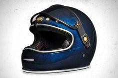 Riding Gear - Big Bore Flake Azul Helmet | Return of the Cafe Racers