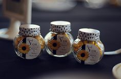 Chocolate covered sunflower seeds as wedding favors ! (Catherine Marciniak Photography) Black and white wedding sunflowers wedding