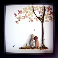 Pebble Art Couple's Gift- Pebble People- Unique Couple's Gift- Anniversary Gift…
